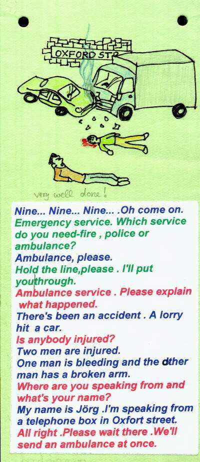 How to make an emergency call (form 7)